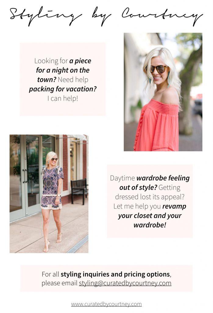 styling, closet organizing
