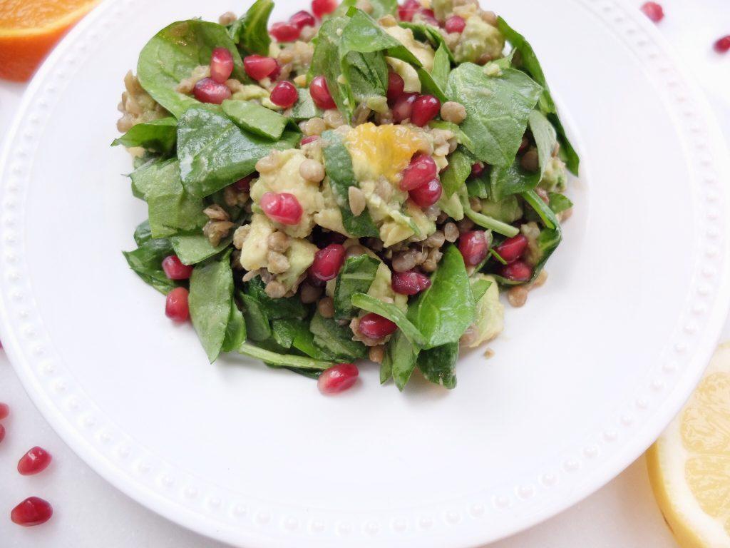 Avocado Lentil Citrus Salad