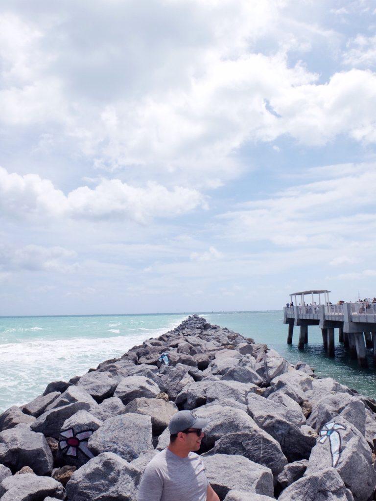 Black Rocks at South Beach Miami Florida