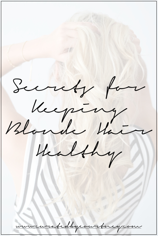 Tips for Keeping Blonde Hair Healthy