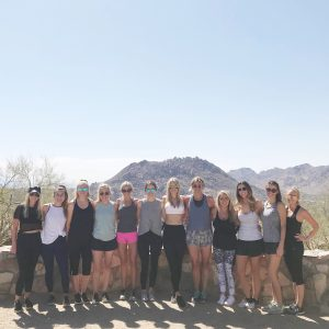 Hiking Pinacle Peak Scottsdale Bachelorette
